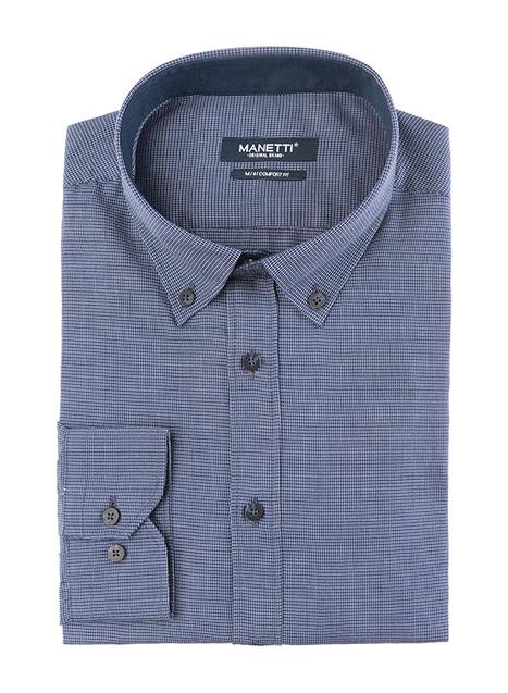 Ανδρικό Πουκάμισο Manetti casual dark blue
