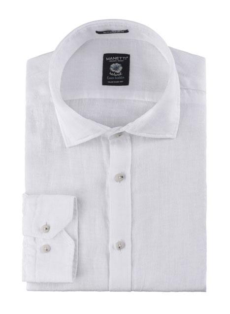 Ανδρικό Πουκάμισο Manetti casual white