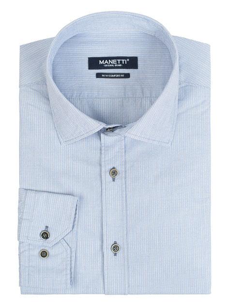 Ανδρικό Πουκάμισο Manetti casual light blue-beige