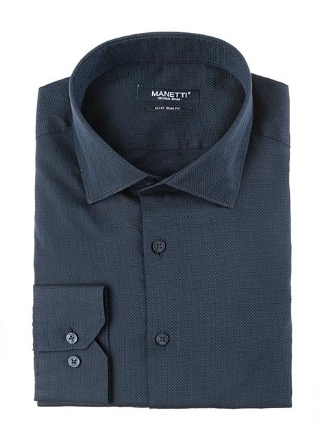 Ανδρικό Πουκάμισο Manetti casual midnight blue