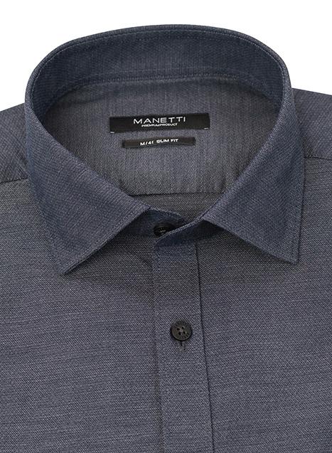 Ανδρικό Πουκάμισο Manetti casual dirty grey blue