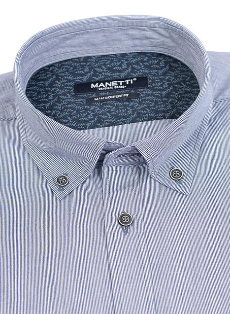 Ανδρικό Πουκάμισο Manetti casual blue