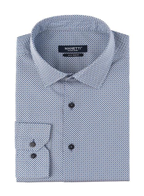 Ανδρικό Πουκάμισο Manetti casual blue-white