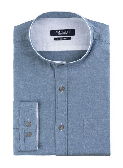 Ανδρικό Πουκάμισο Manetti casual light blue