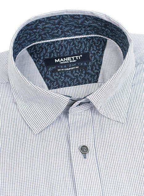 Ανδρικό Πουκάμισο Manetti casual white-blue