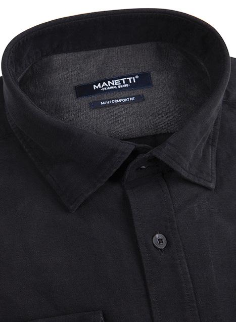 Ανδρικό Πουκάμισο Manetti casual black