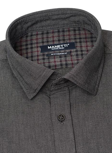 Ανδρικό Πουκάμισο Manetti casual grey melange