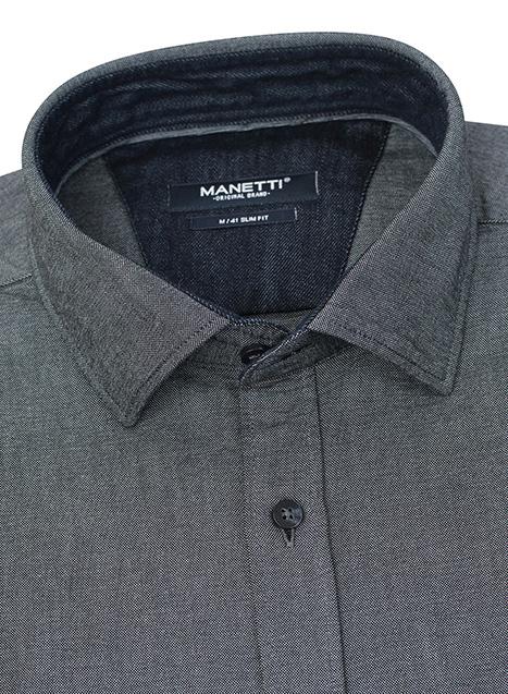 Ανδρικό Πουκάμισο Manetti casual slate blue