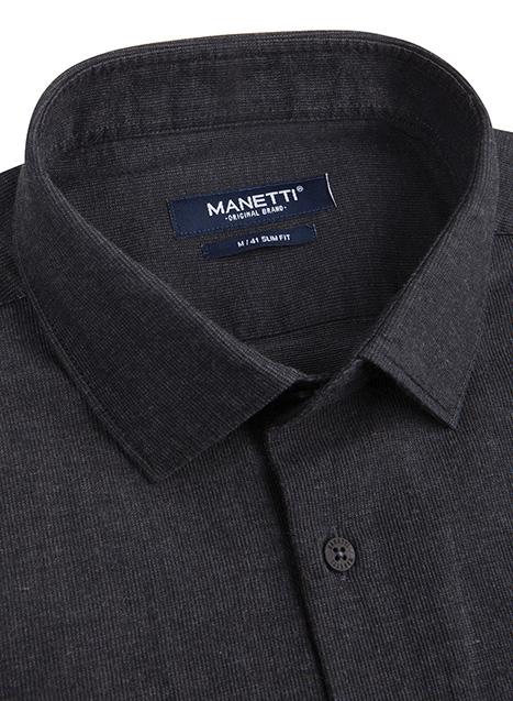 Ανδρικό Πουκάμισο Manetti casual dark grey