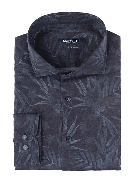 Ανδρικό Πουκάμισο Manetti casual black blue