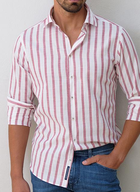 Ανδρικό Πουκάμισο Manetti casual dirty pink