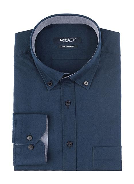 Ανδρικό Πουκάμισο Manetti casual royal blue