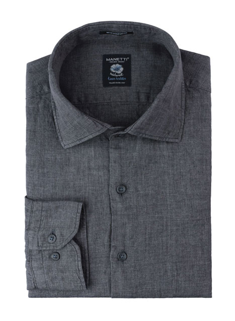 Ανδρικό Πουκάμισο Manetti casual grey