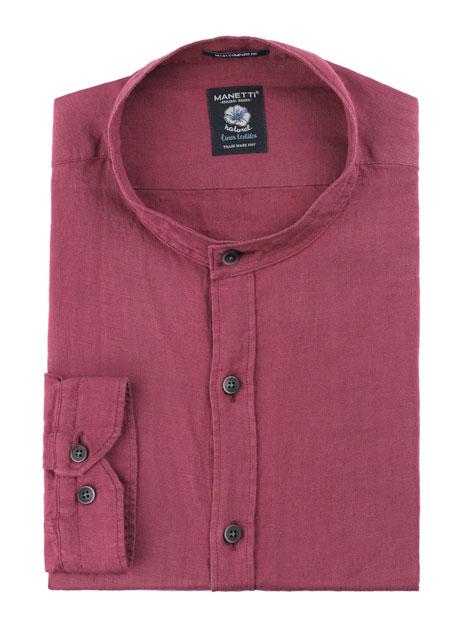 Ανδρικό Πουκάμισο Manetti casual rusty red