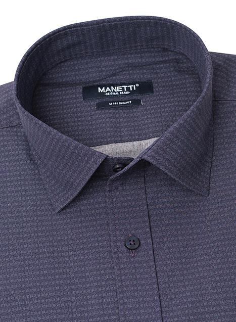 Ανδρικό Πουκάμισο Manetti casual lavender