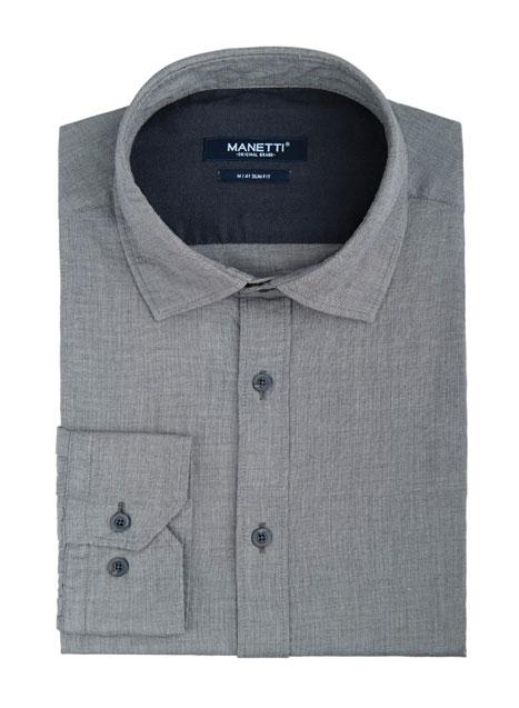 Ανδρικό Πουκάμισο Manetti casual oil grey