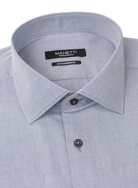 Ανδρικό Πουκάμισο Manetti casual grey blue