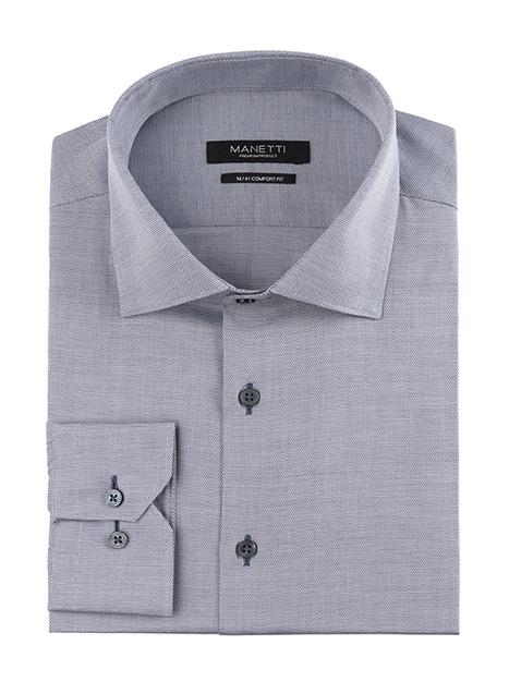 Ανδρικό Πουκάμισο Manetti formal grey white