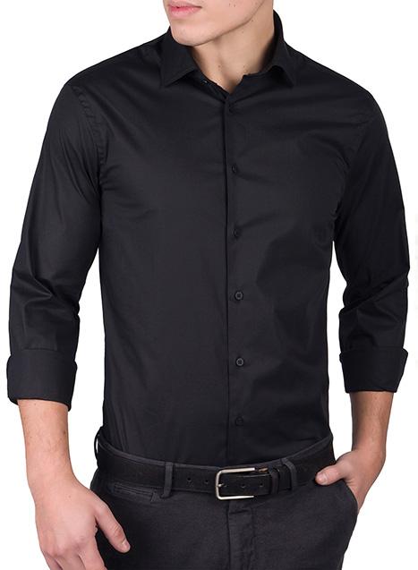 Ανδρικό Πουκάμισο Manetti formal black