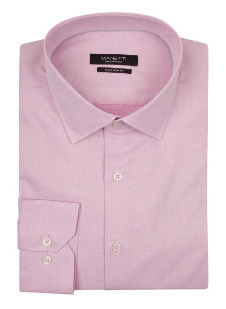Ανδρικό Πουκάμισο Manetti formal pink