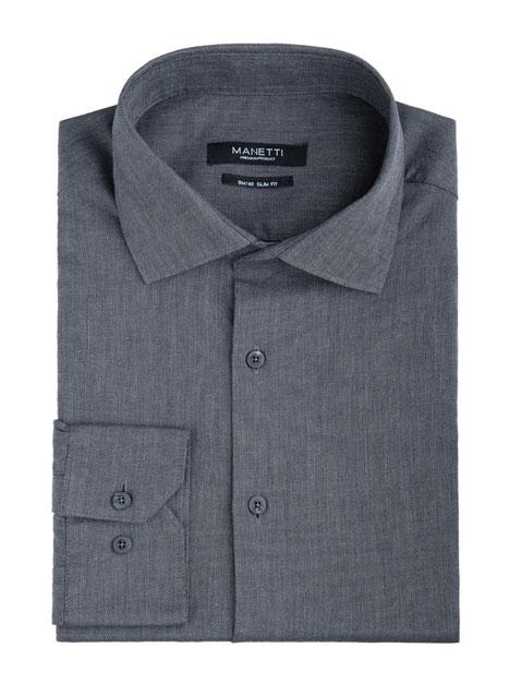 Ανδρικό Πουκάμισο Manetti formal dark grey