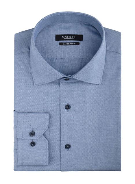 Ανδρικό Πουκάμισο Manetti formal indigo blue