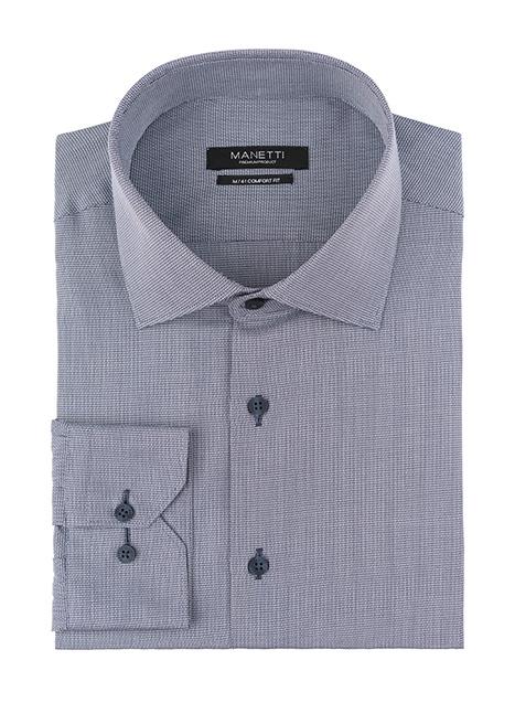 Ανδρικό Πουκάμισο Manetti formal blue-grey