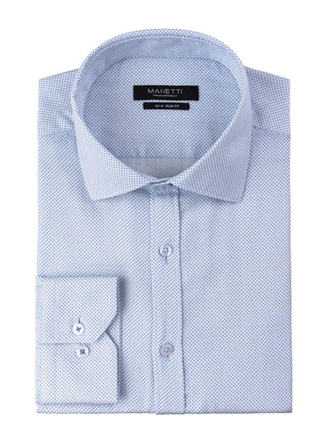 Ανδρικό Πουκάμισο Manetti formal white-blue