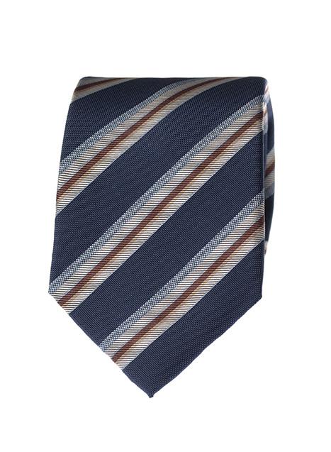 Ανδρική Γραβάτα Manetti formal blue-beige