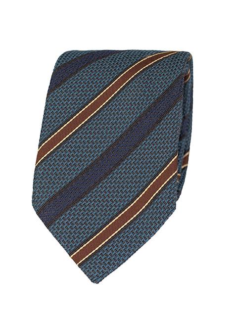 Ανδρική Γραβάτα Manetti formal indigo-blue brown
