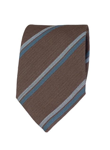 Ανδρική Γραβάτα Manetti formal brown-aqua