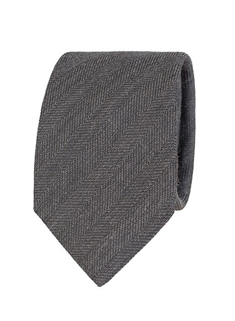 Ανδρική Γραβάτα Manetti formal dark grey