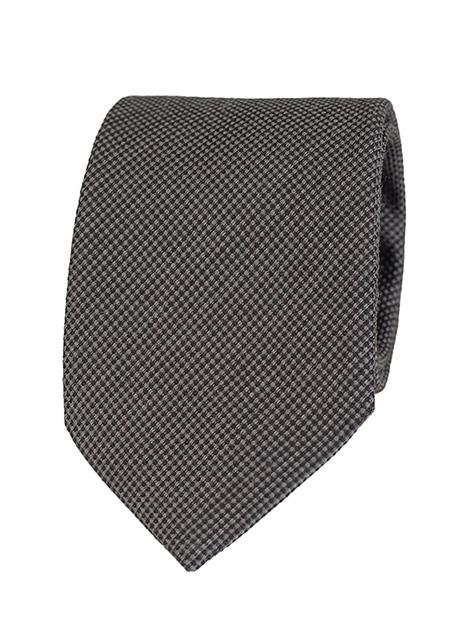 Ανδρική Γραβάτα Manetti formal dark grey-black