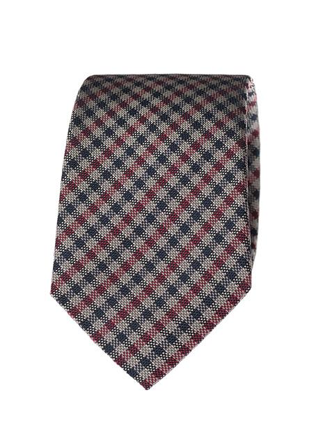 Ανδρική Γραβάτα Manetti formal red-blue