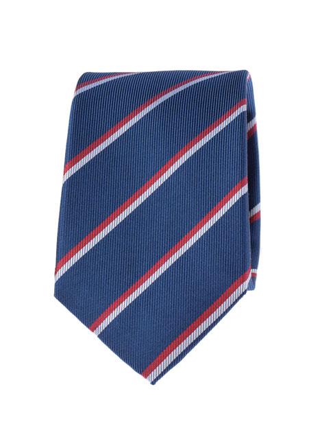 Ανδρική Γραβάτα Manetti formal blue red silver