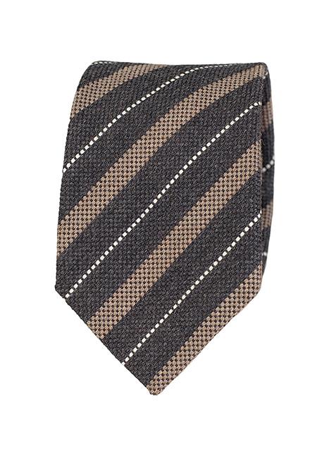 Ανδρική Γραβάτα Manetti formal black-beige