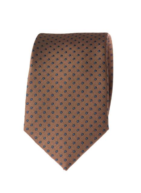 Ανδρική Γραβάτα Manetti accessories brown-blue