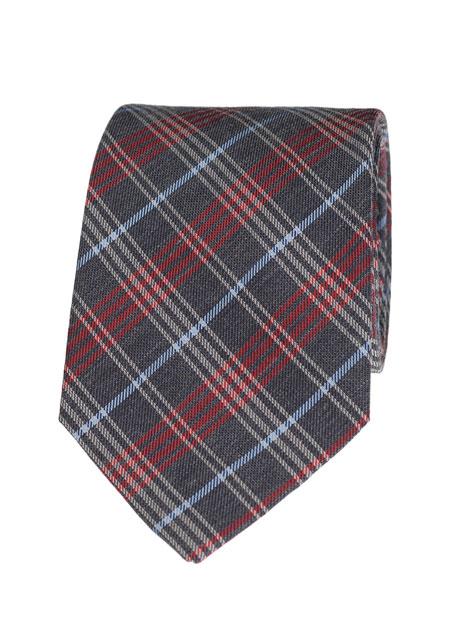 Ανδρική Γραβάτα Manetti accessories grey red