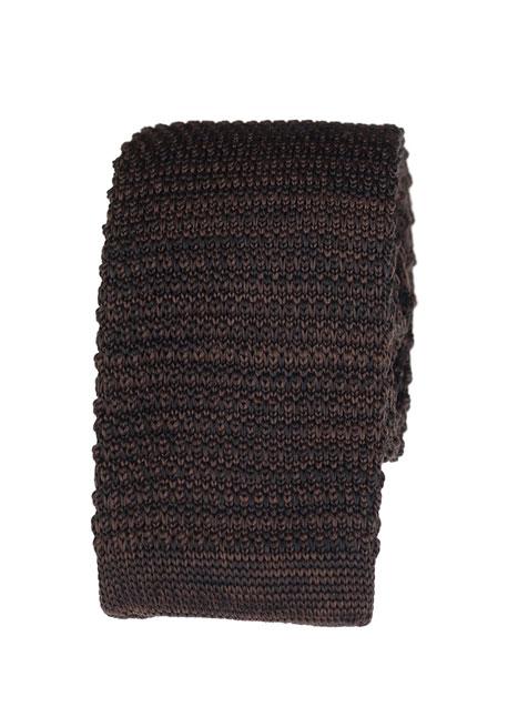 Ανδρική Γραβάτα πλεκτή Manetti accessories khaki melanze