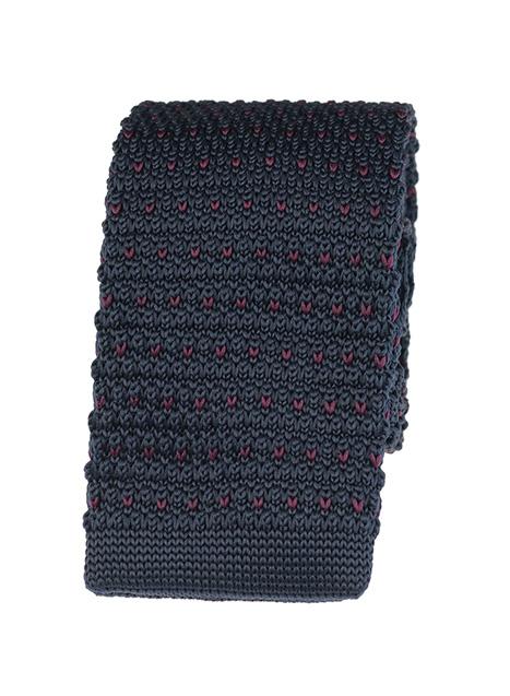Ανδρική Γραβάτα πλεκτή Manetti accessories blue wine