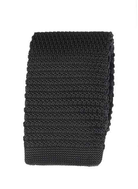 Ανδρική Γραβάτα πλεκτή Manetti accessories black