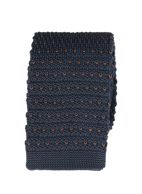 Ανδρική Γραβάτα πλεκτή Manetti accessories blue khaki