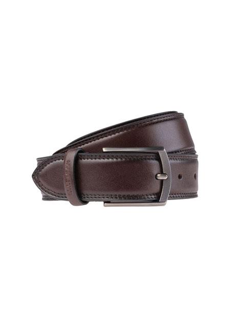Ανδρική Ζώνη Manetti casual antique brown