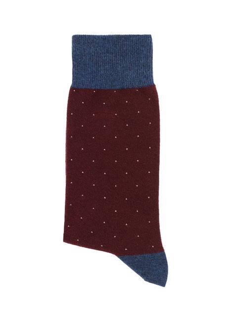 Ανδρική Κάλτσα Manetti casual burgundy