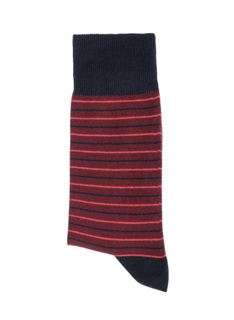 Ανδρική Κάλτσα Manetti casual burgundy-red