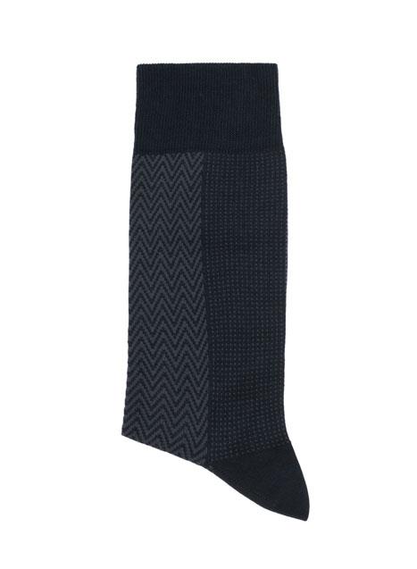 Ανδρική Κάλτσα Manetti accessories blue-grey