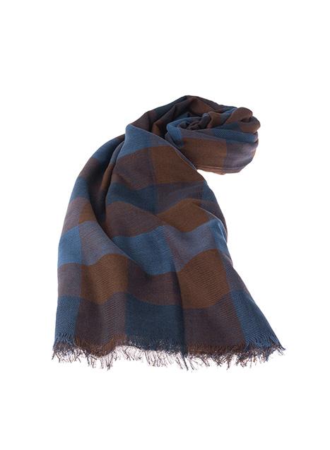 Ανδρικό Κασκόλ Manetti casual indigo-brown