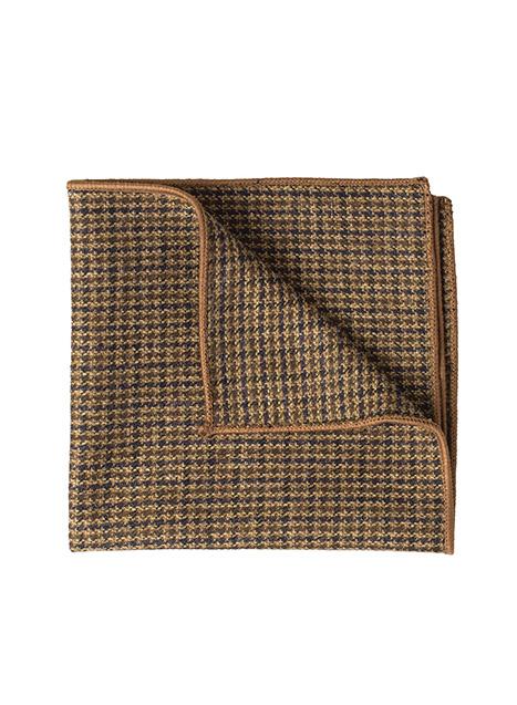 Ανδρικό Μαντήλι Manetti accessories cinnamon-black