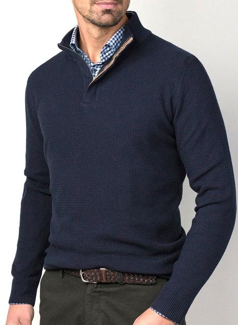 Ανδρικό Πλεκτό Manetti casual blue