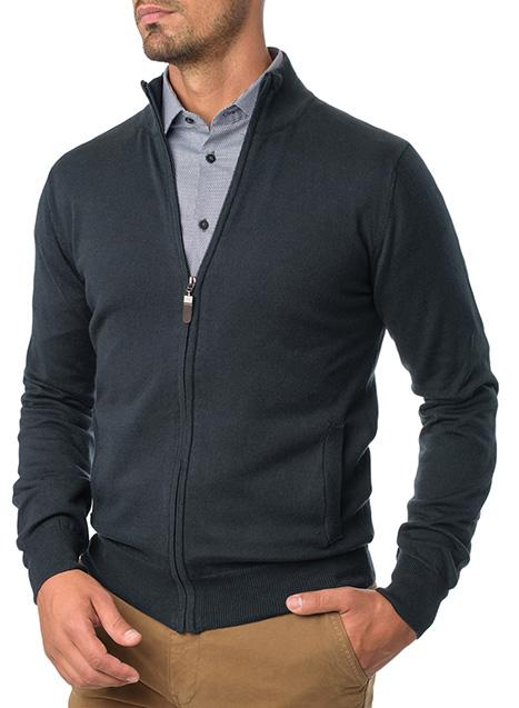 Ανδρικό Ζακέτα με φερμουάρ Manetti casual blue